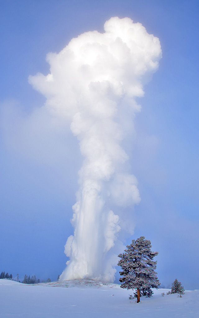 Old Faithful at -33 degrees